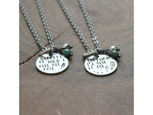 mother daughter necklace set mother 39 s day gift quote
