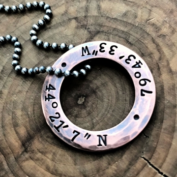men's coordinates necklace