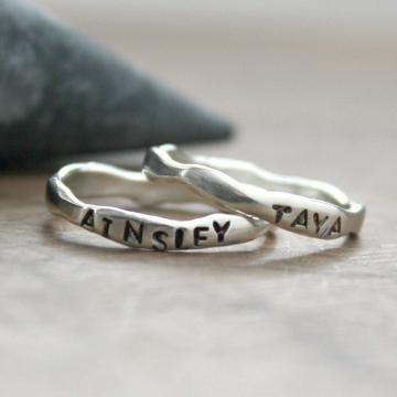 personalized silver rings
