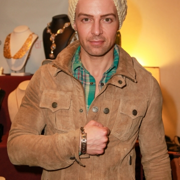 Joseph Lawrence Wearing 2 Sisters Handcrafted Unisex BE Something Collection Bracelet