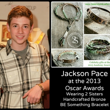 Jackson Pace sporting with 2 Sisters Handcrafted Unisex Bracelet