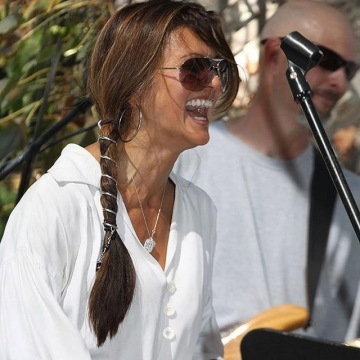 Nia Peeples wearing 2 Sisters Handcrafted Necklace