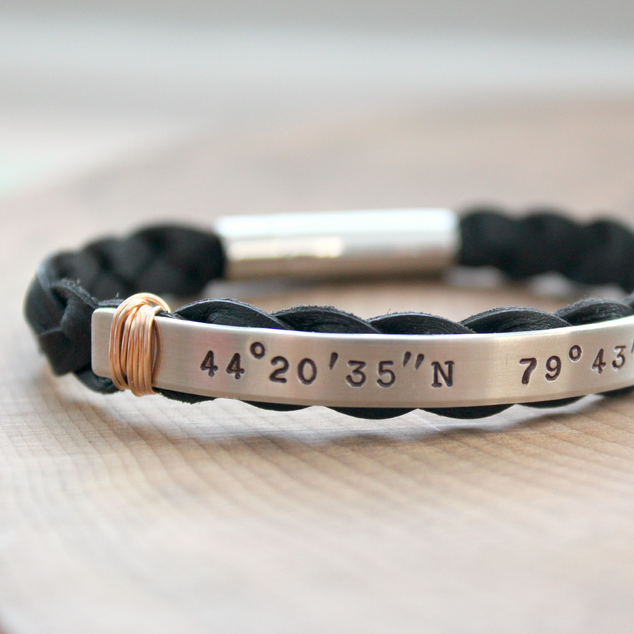 mens latitude father listing s bracelet for gift gps personalized custom leather longitude nqvq coordinates him fullxfull il day