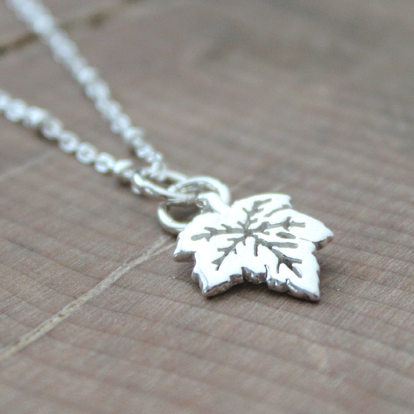 bluejay vintage products leaf maple necklace flyaway