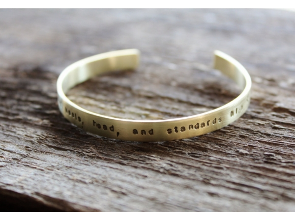 Personalized brass stacking bracelet