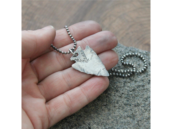 men's silver necklace