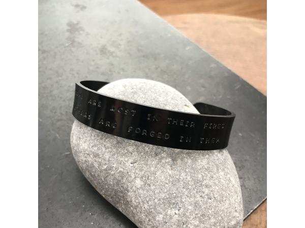 personalized men's black cuff