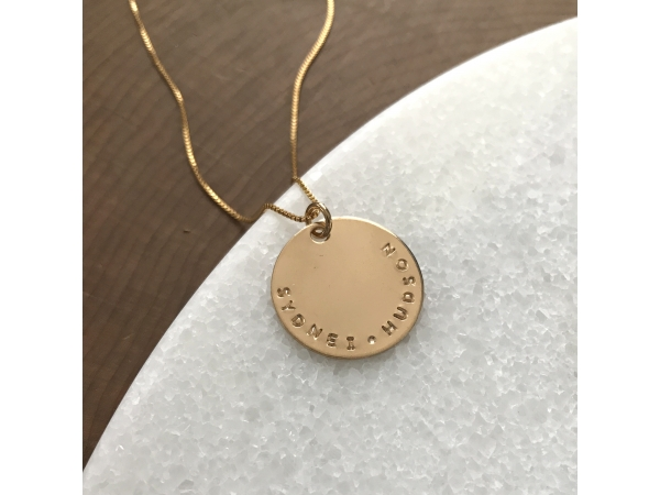 Men's personalized gold necklace