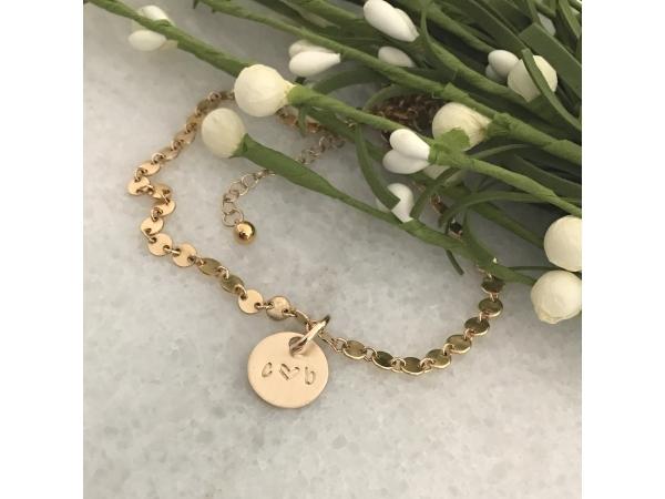 personalized gold couples bracelet