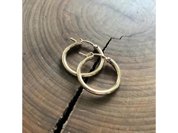 14k gold fill hoop earrings