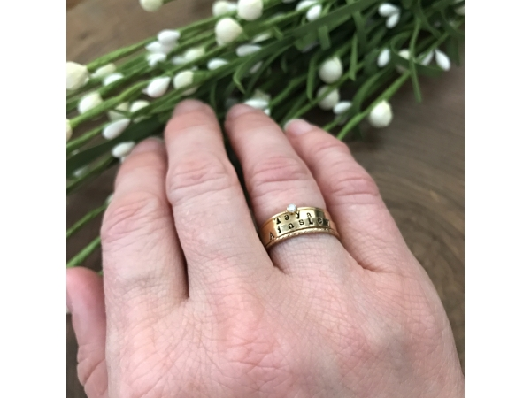 personalized gold stacking rings