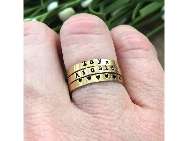 personalized gold ring