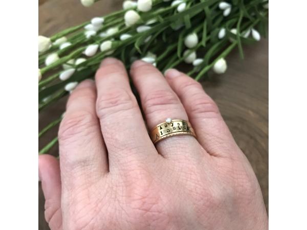 gold crystal stacking ring