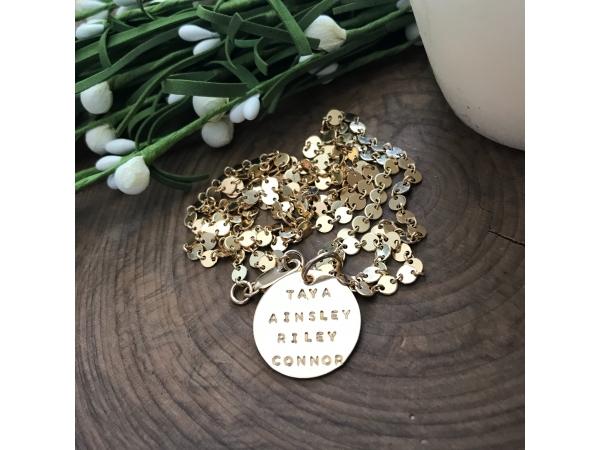 Gold fill Grace necklace