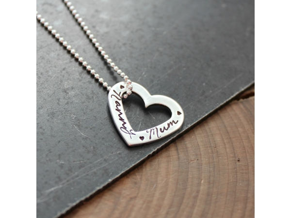 personalized woman's necklace