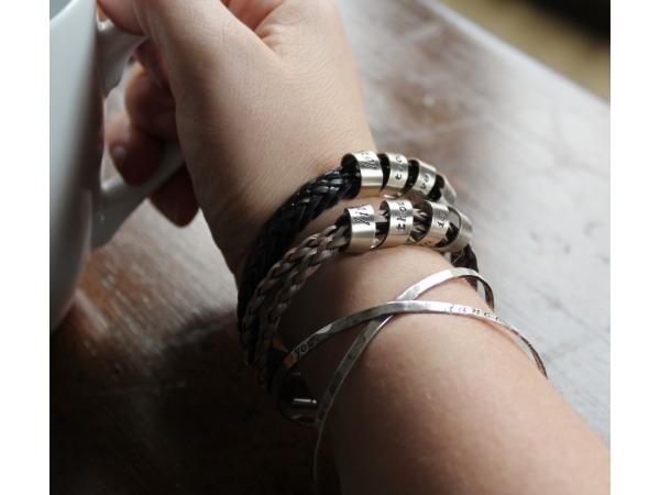 woman's personalized jewelry