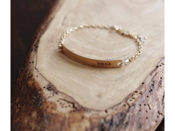 custom gold name bracelet