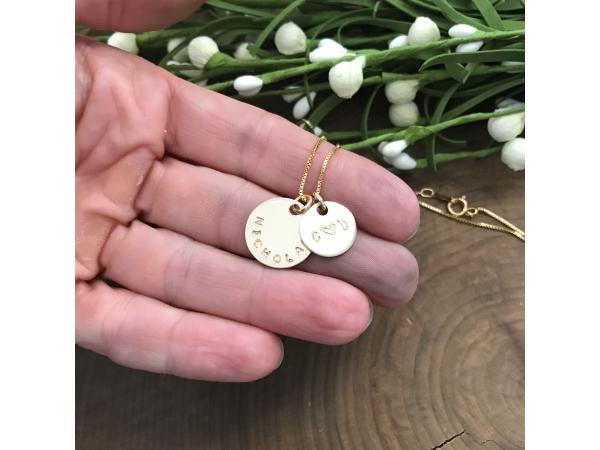 14k gold fill custom gold necklace