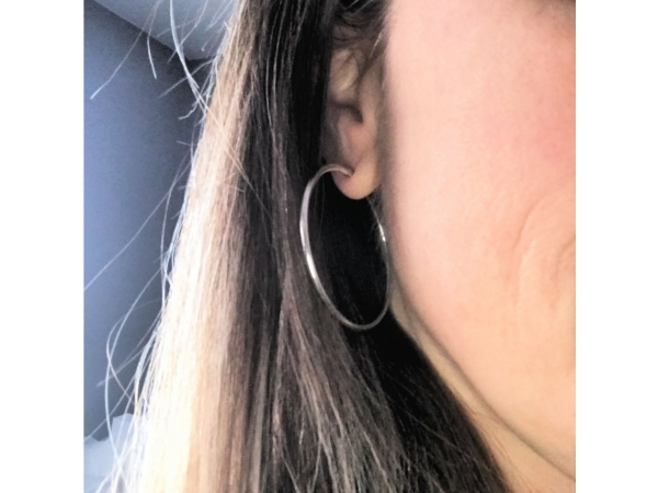 big silver hoop earrings