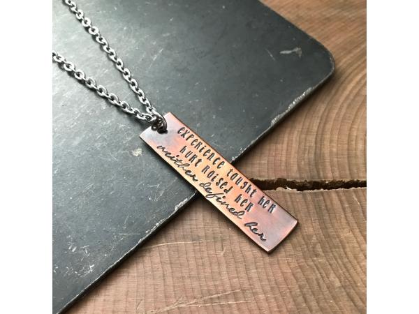 custom pronouns strength necklace