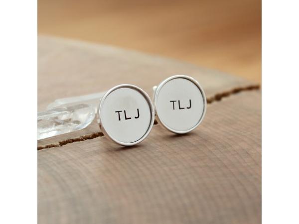 custom initials cuff links