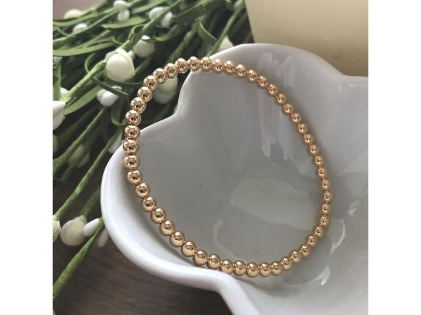 gold fill stretch bracelet