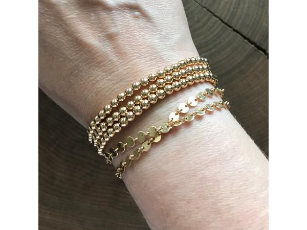 gold layering bracelet
