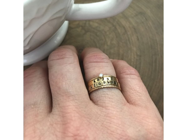 set of 4 personalized rings