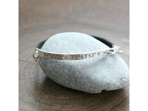 mens personalized bracelet