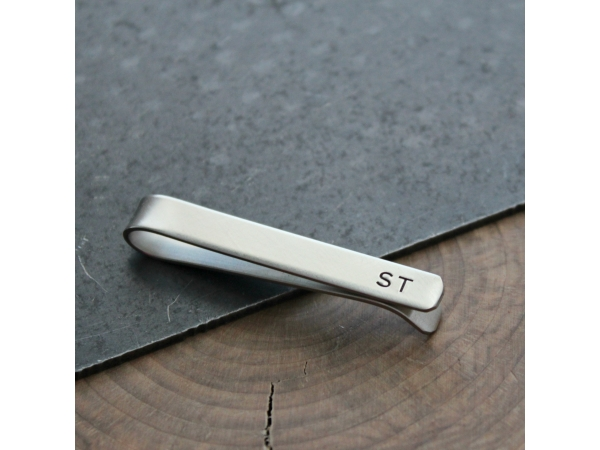 monogramed tie bar
