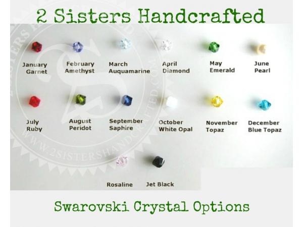 Swarovski crystal birthstone ckoice