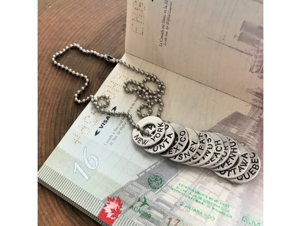 travel tags necklace