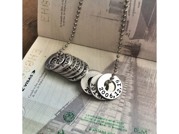 city and date necklace