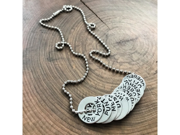personalized location necklace