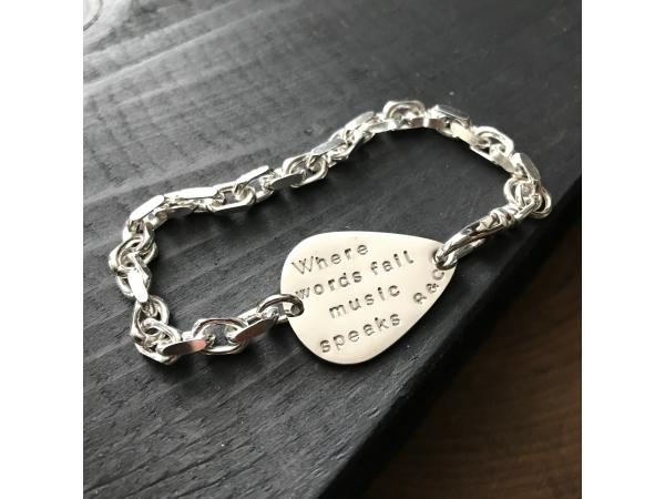 men's when words fail music speaks bracelet