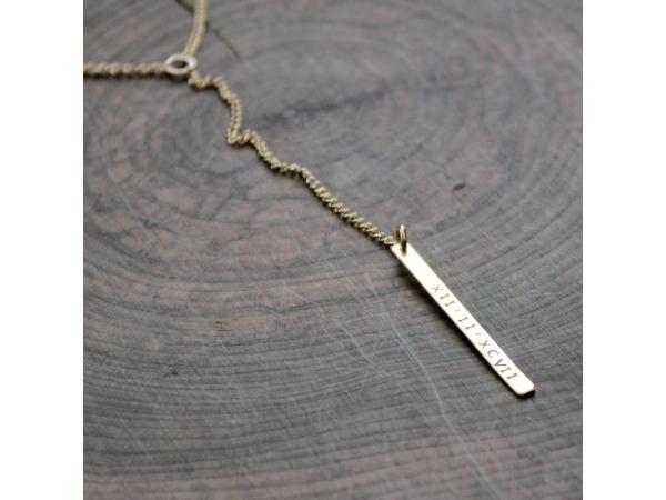 gold y bar necklace