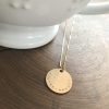 personalized gold fill coin necklace