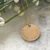 Unisex personalized coin necklace