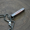 Men's mixed metal bar necklace