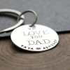hand stamped keychain for mom or dad