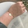 engraved gold bracelet