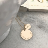 engraved gold necklace