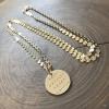 custom layering gold necklace