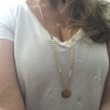 personalized long gold necklace
