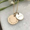 personalized gold name and initial necklace