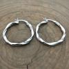 sterling silver twist hoops