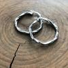 large silver twist hoops