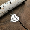 hand stamped inspirational quote necklace