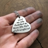 heart shaped quote necklace