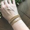 gold stretch bead bracelet